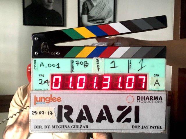 Raazi Goes on Floor | Bollywood Movie Raazi Updates