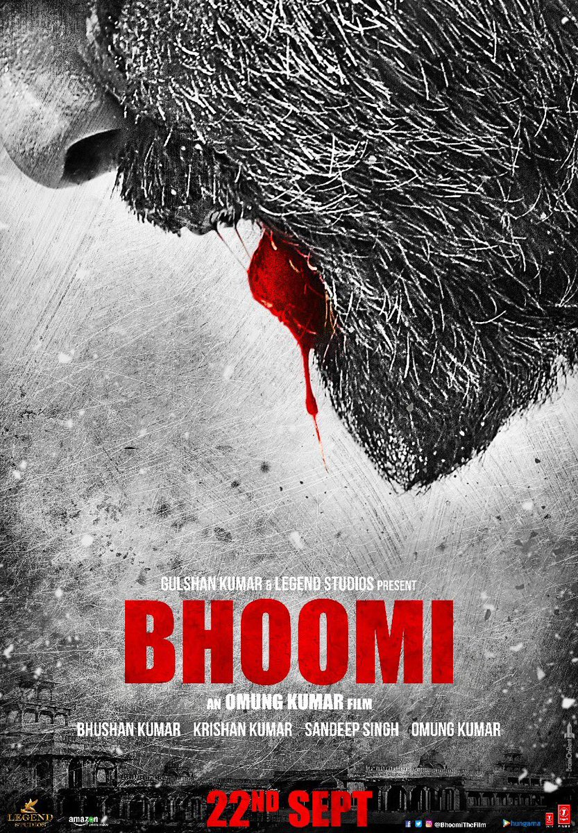 Here is the Bhoomi Official Poster – Sanjay Dutt Back