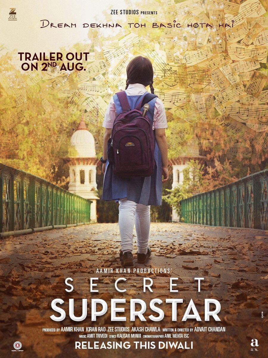 Aamir Khan Production Secret Superstar Official Poster