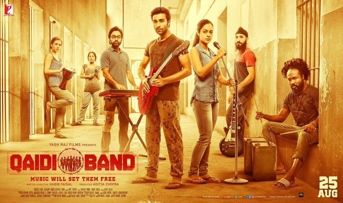 Official poster of Qaidi Band introducing ranbir kapoor's cousin aadar jain