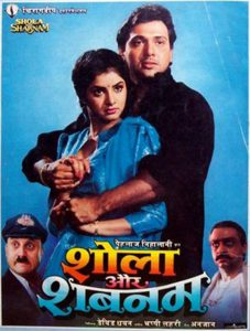 List Of Bollywood Movies 1992 - Shola Aur Shabnam