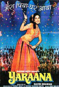 List Of Super Hit Hindi Films 1995 - Yaraana