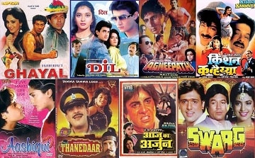 Top 100 Bollywood Films Of 1990 | Super Hit Old Hindi Movies List 1990