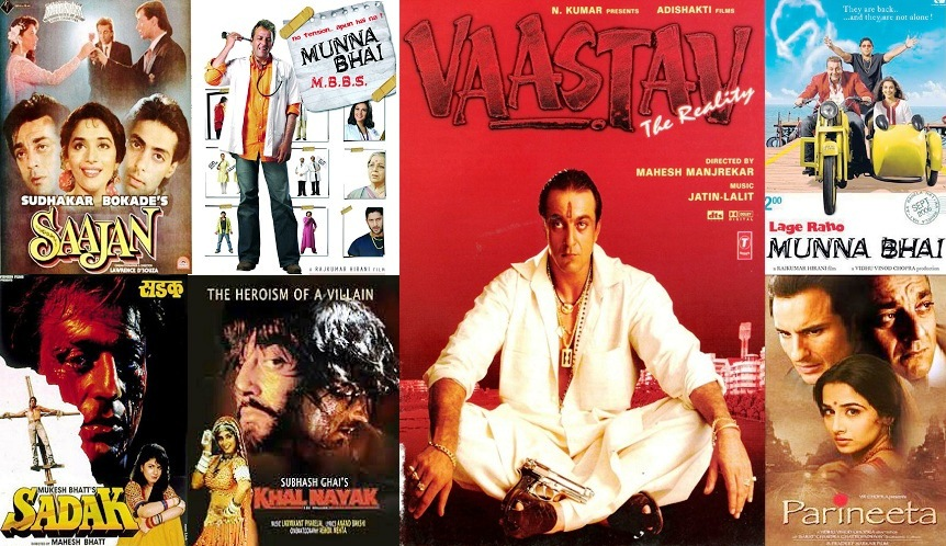 Complete List Of Sanjay Dutt Movies | Superhit Hindi Films Of Sanjay Dutt