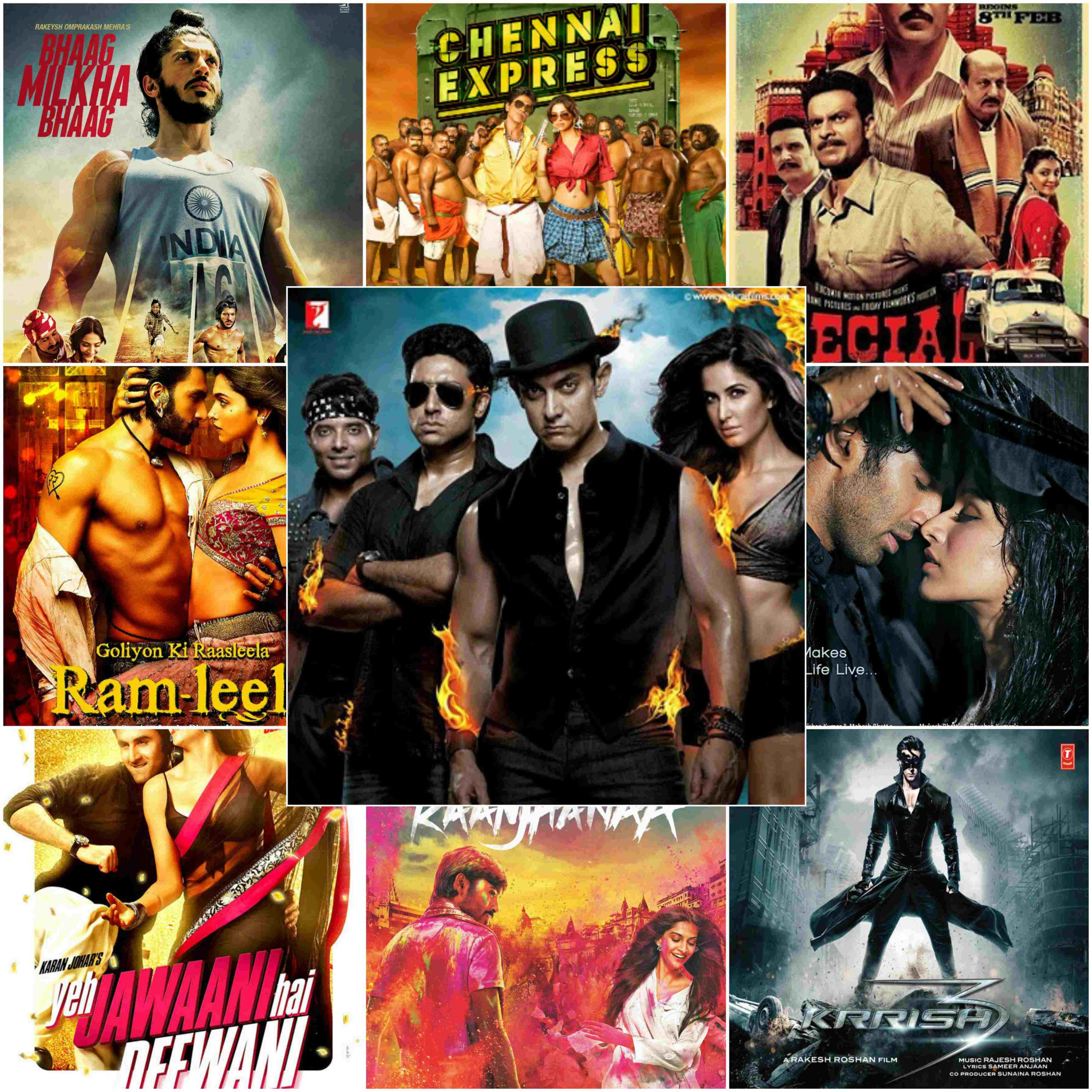 Complete List Of 2013 Bollywood Movies | Superhit Comedy And Actions Hindi Films In 2013