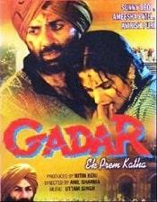 List Of 2001 Bollywood Films - Gadar